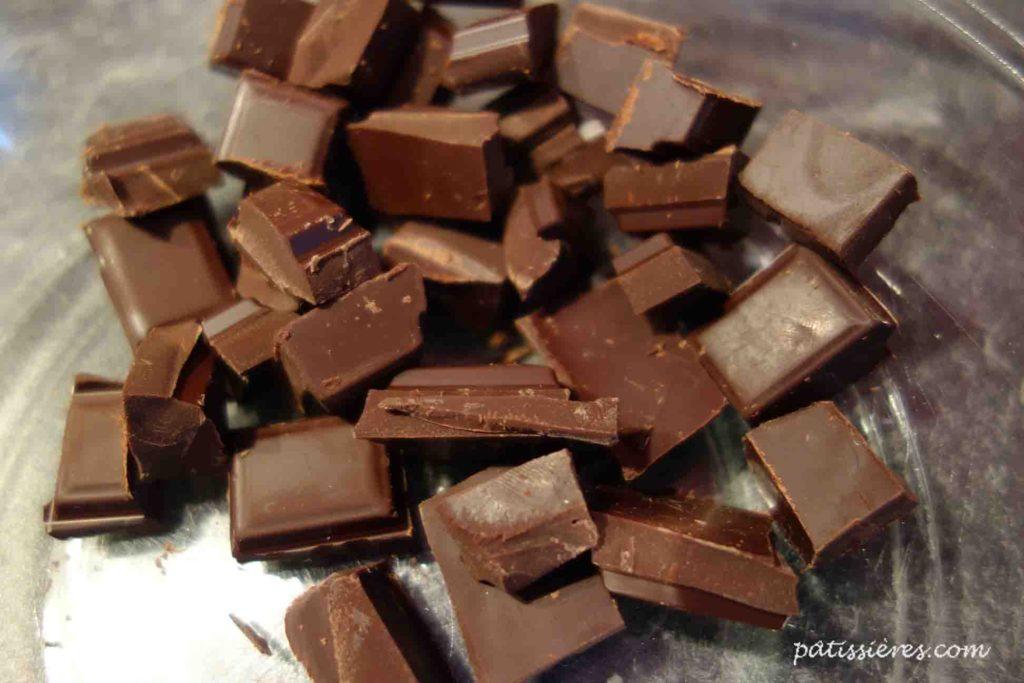 チョコレートガナッシュの作り方(ショコラを割る)[Ganache au chocolat]