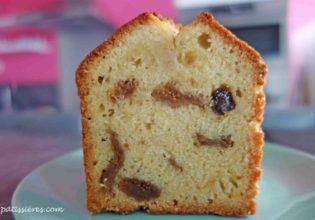 シロップを塗る[フルーツケーキの作り方 Cake aux fruits]